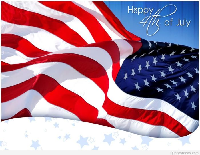 A Happy salute to the Fourth ofJuly